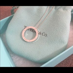 Gorgeous Tiffany & Co 1837 circle pendant necklace